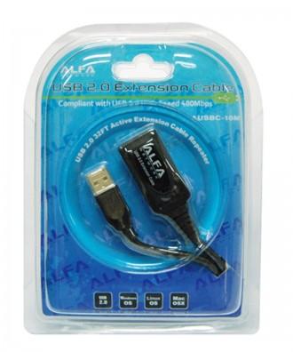Alfa USB verlengkabel 10m A-A