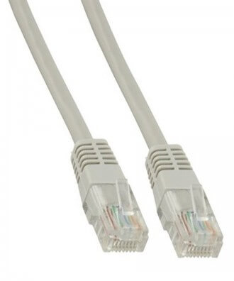 UTP-kabel - 1 meter CAT5e straight Grijs