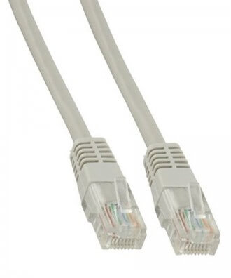 UTP-kabel - 20 meter CAT5e straight Grijs